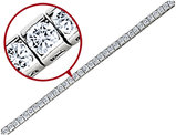 Synthetic Cubic Zirconia Bracelet 6.50Carats (ctw) in Sterling Silver