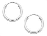 Small Hoop Earrings in Sterling Silver 1/2 Inch (2.0mm)