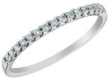 Diamond Wedding Band 1/7 Carat (ctw) in 14K White Gold