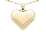 Heart Pendant Necklace in 14K Yellow Gold with Chain