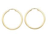 Small Hoop Earrings in 14K Yellow Gold 1 Inch (2.00 mm)