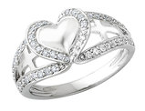 Pure Heart Ring in Sterling Silver with Synthetic Cubic Zirconia