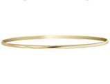Polished Half Round Slip On Bangle in 14K Yellow Gold (2.00 mm)
