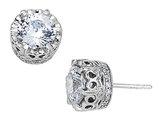 Cheryl M. Synthetic Cubic Zirconia (CZ) Earrings in Sterling Silver