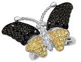 Cheryl M. Cubic Zirconia (CZ) Butterfly Ring in Sterling Silver