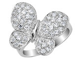Cheryl M. Synthetic Cubic Zirconia (CZ) Butterfly Ring in Sterling Silver