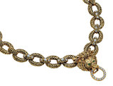 Synthetic Crystal Lion Necklace with 24K Gold Plating (Jacqueline Kennedy Collection)