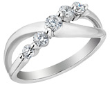 Diamond Anniversary Ring Band 1/2 Carat (ctw) in 14K White Gold