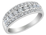 Diamond Anniversary Ring Band 3/4 Carat (ctw) in 14K White Gold