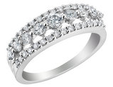 Diamond Cocktail Ring 3/4 Carat (ctw) in 14K White Gold
