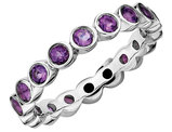 Purple Amethyst Ring Band 1.20 Carat (ctw) in Sterling Silver