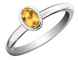 Citrine Ring 1/2 Carat (ctw) in Sterling Silver