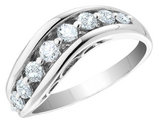 Diamond Anniversary Ring 1/2 Carat (ctw Color H-I I1-I2) in 14K White Gold
