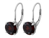 Garnet Earrings 4.95 Carat (ctw) in Sterling Silver