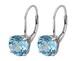 Blue Topaz Earrings 3.50 Carat (ctw) in Sterling Silver
