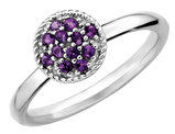 Stackable Amethyst Ring 1/5 Carat (ctw) in Sterling Silver
