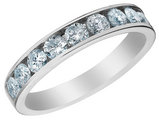 Diamond Wedding Band and Anniversary Ring 1.0 Carat (ctw) in 14K White Gold