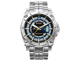 Men's Bulova Precisionist Champlain Watch in Stainless Steel with Blue Dial (96B131)