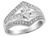 Marquise Cut Diamond Engagement Ring 1.0 Carat (ctw) in 14K White Gold