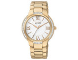 Ladies' Citizen Eco Drive Watch in Rose Gold Tone Stainless Steel (EM0093-59A)