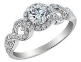 Diamond Infinity Halo Engagement Ring 3/4 Carat (ctw) in 14K White Gold