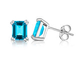 Blue Topaz Earrings 2.0 Carat (ctw) in Sterling Silver