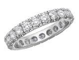 Diamond Eternity Wedding Anniversary Ring 2.0 Carat (ctw) 14K White Gold
