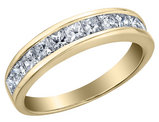 Princess Cut Diamond Wedding Band and Anniversary Ring 3/4 Carat (ctw) in 14K Yellow Gold