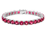 Created Ruby Bracelet 14.0 Carat (ctw) in Sterling Silver