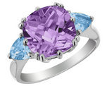 Amethyst & Blue Topaz 3.90 Carats (ctw) Ring in Sterling Silver
