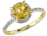 Citrine and Diamond 1.30 Carat (ctw) Ring in 10K Yellow Gold