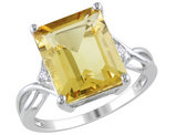 Citrine and White Topaz 6.63 Carat (ctw) Infinity Ring in Sterling Silver