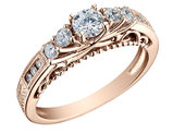 Diamond Engagement Ring 3/4 Carat (ctw) in 14K Rose Pink Gold