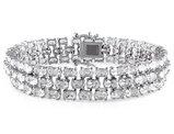 White Topaz 25 5/8 Carat (ctw) Bracelet in Sterling Silver