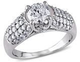 Diamond Engagement Ring 1 1/4 Carat (ctw) in 14K White Gold