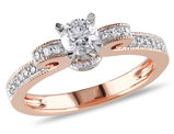 Diamond Engagement Ring 1/2 Carat (ctw) in 14K Rose Gold
