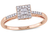 Princess Cut Diamond Engagement Ring 1/5 Carat (ctw) in 10K Rose Gold