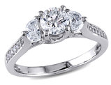 Diamond Engagement Ring 1.0 Carat (ctw) in 14K White Gold