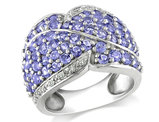Catherine Catherine Malandrino Tanzanite Pave Ring in Sterling Silver