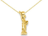 Statue of Liberty Pendant Necklace in 14K Yellow Gold