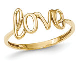Ladies 14K Yellow Gold Polished Love Ring