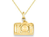 Polished Camera Charm Pendant Necklace in 14K Yellow Gold