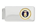 U.S. Air Force Money Clip in Sterling Silver with Rhodium Plating