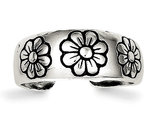 Sterling Silver Antiqued Toe Ring