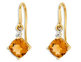 14K Yellow Gold Citrine Dangle Earrings 4/5 Carat (ctw)
