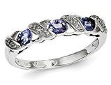 Sterling Silver Tanzanite Ring 1/2 carat (ctw)