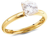 14K Yellow Gold 3/4 Carat (ctw Color J-K Clarity I2) Diamond Solitaire Engagement Ring