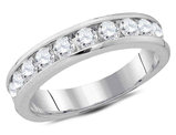 Ladies 14K White Gold 1.00 Carat (ctw H-I, I1-I2) Diamond Wedding Anniversary Band