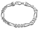 Men's Bracelet Figaro Chain 8 Inches in Sterling Silver