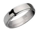 Men's Chisel 6mm Stainless Steel Ridged Wedding Band